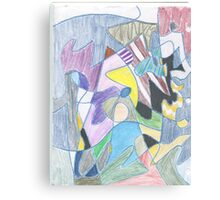 Abstract Color Doodle #30 Canvas Print