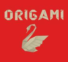 Origami Swan T Shirt Kids Tee