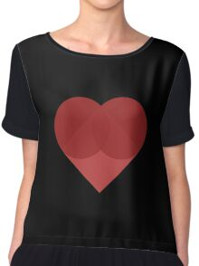 All You Need Is Art - love heart valentine fun cute romance Chiffon Top