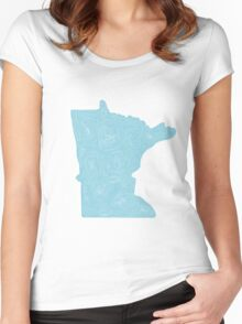 Minnesota Topo Women's Fitted Scoop T-Shirt