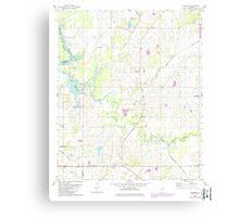 USGS TOPO Map Alabama AL Casemore 303424 1980 24000 Canvas Print