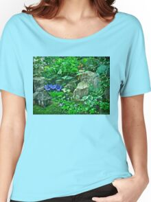 Housewarming Greeting - Fairy Landscape Women's Relaxed Fit T-Shirt