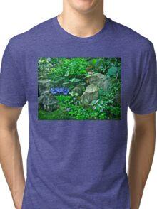 Housewarming Greeting - Fairy Landscape Tri-blend T-Shirt