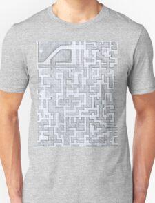 Patterned Graph Paper Doodle  Unisex T-Shirt