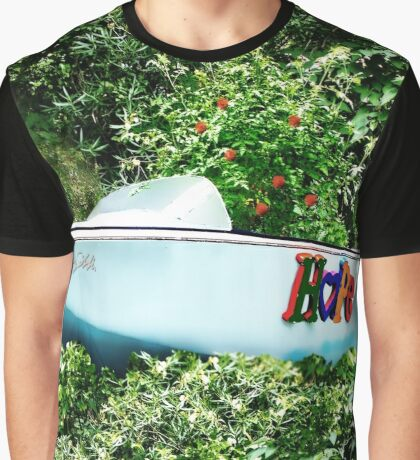 Boat of Blue-Sea of Green Graphic T-Shirt
