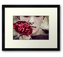 Mystery girl Framed Print