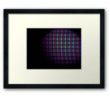 Pixel Lights Framed Print