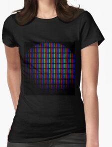 Pixel Lights Womens Fitted T-Shirt