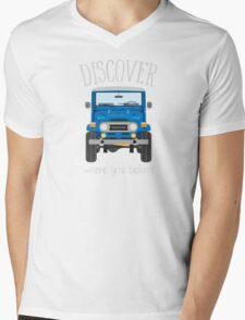 Discover Where You Belong (blue) Mens V-Neck T-Shirt