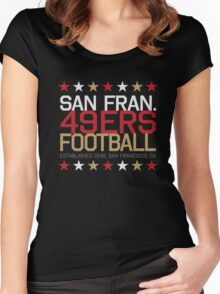 San Francisco 49ers Women's Fitted Scoop T-Shirt