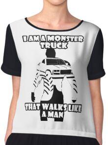 Monster Truck Man Chiffon Top
