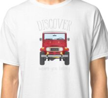 Discover Where You Belong (red) Classic T-Shirt