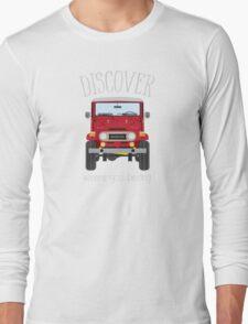 Discover Where You Belong (red) Long Sleeve T-Shirt
