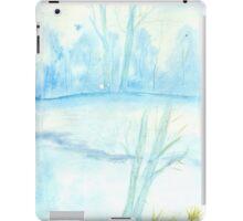 Foggy winter landscape frosty morning iPad Case/Skin