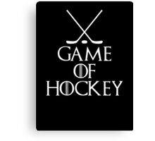 Game of Hockey T Shirt Canvas Print