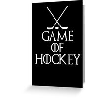 Game of Hockey T Shirt Greeting Card