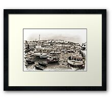 Waiting for the Tide - Cornwall Framed Print