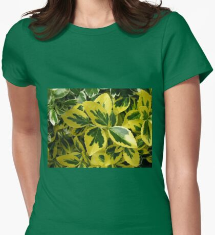 A Study in Green and Gold Womens Fitted T-Shirt