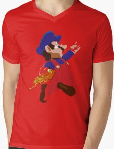 Mario - Super Smash Brothers Mens V-Neck T-Shirt
