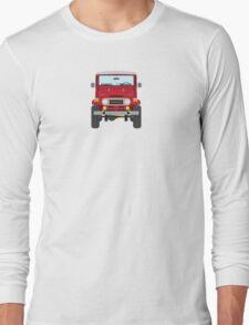 Toyota FJ40 (red) Long Sleeve T-Shirt