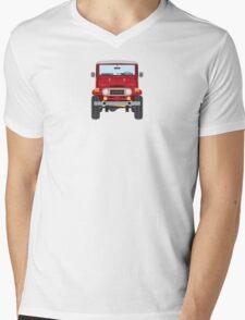 Toyota FJ40 (red) Mens V-Neck T-Shirt
