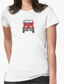 Toyota FJ40 (red) Womens Fitted T-Shirt