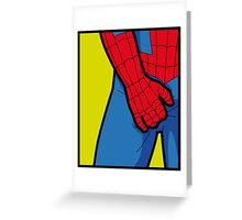 Itchy Spiderman Greeting Card