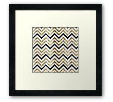 Golden Geometry Framed Print