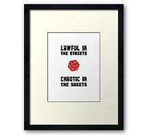 Lawful Chaotic Framed Print