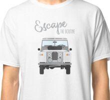 Escape the Routine (white) Classic T-Shirt