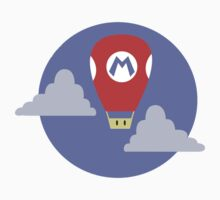 Mario Super Mushroom Air Balloon Kids Tee