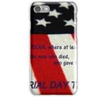 MEMORIAL TRIBUTE      ^ iPhone Case/Skin
