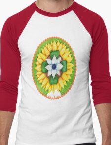 Lotus flower of life style  cute and fun.  Men's Baseball ¾ T-Shirt