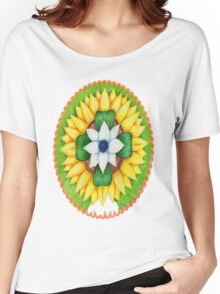Lotus flower of life style  cute and fun.  Women's Relaxed Fit T-Shirt