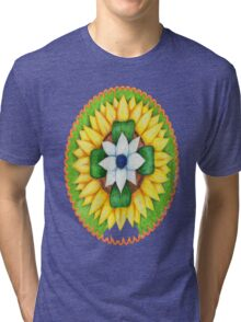 Lotus flower of life style  cute and fun.  Tri-blend T-Shirt
