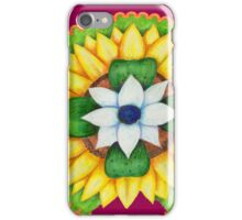 Lotus flower of life style  cute and fun.  iPhone Case/Skin