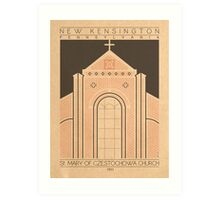 Saint Mary of Czestochowa Church - 1911 (Orange) Art Print