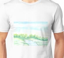 River flowing through meadows Unisex T-Shirt