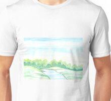 River flowing through meadows Unisex T-Shirt