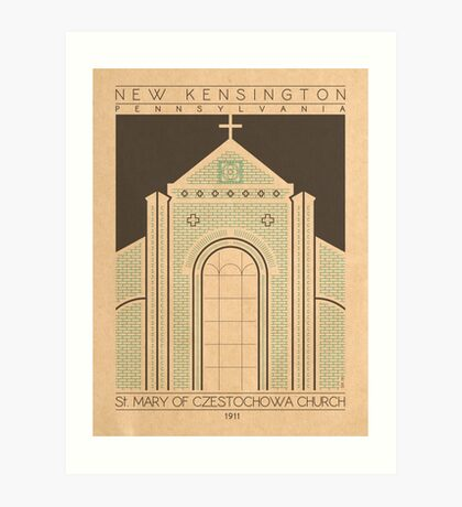 Saint Mary of Czestochowa Church - 1911 (Green) Art Print