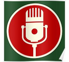 Microphone Sign Poster