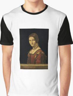 Leonardo Da Vinci - Portrait Of A Lady From The Court Of Milan  Graphic T-Shirt