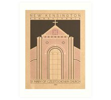 Saint Mary of Czestochowa Church - 1911 (Purple) Art Print
