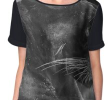 Panther In Portrait Chiffon Top