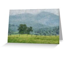 Pasture Trees Greeting Card