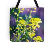 Yellow Rocket Flower Blossoms Tote Bag