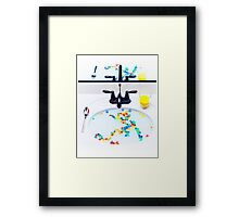 Cereal Reflection Framed Print