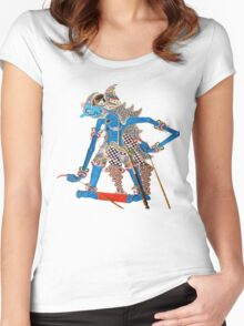 wayang/puppet Women's Fitted Scoop T-Shirt