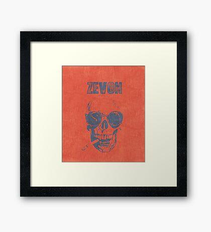 WARREN ZEVON Fan Art Framed Print