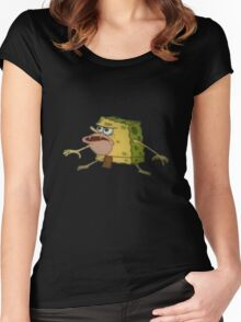 Caveman Spongebob Women's Fitted Scoop T-Shirt